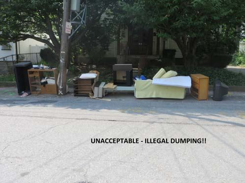 Illegal Curb Dumping